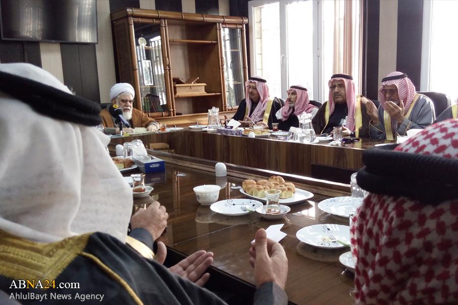 دیدار هیئتی از روساء قبایل و شیوخ عشایر سوریه با رئیس شورای عالی مجمع جهانی اهلبیت(ع)