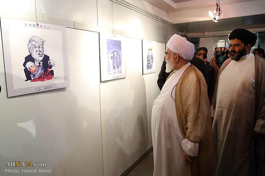 گزارش تصویری/ افتتاح نمایشگاه آثار منتخب دومین جشنواره بینالمللی کاریکاتور روز جهانی قدس