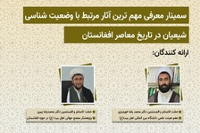 Seminar to introduce important works related to Shiites situation in contemporary Afghanistan