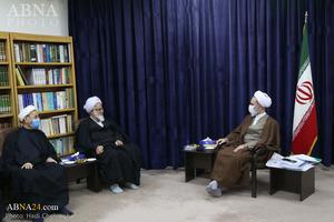 фоторепортаж / Встреча членов секретариата конференции Хазрата Абуталиба (мир ему) с Аятоллой Арафи