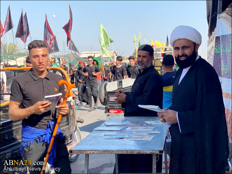 Photos: Activities of missionaries of AhlulBayt (a.s.) World Assembly on Baghdad-Karbala Road