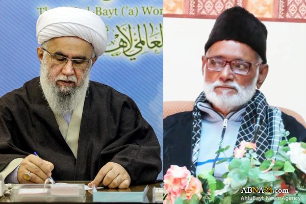 Ayatollah Ramazani offered his condolences on demise of Indian Shiite scholar