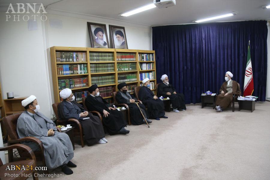 Foto Haber/ Hz. Ebu Talib (a.s) Konferans Sekreterliği Üyelerinin Ayetullah Ârafi'yle Görüşmesi