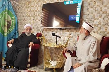 Photos: Ayatollah Ramazani met Grand Mufti of Iraqi Sunnis