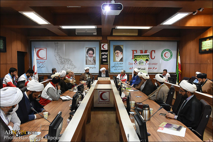 گزارش تصویری/ دیدار روحانیون جمعیت هلال احمر استان گیلان با دبیر کل مجمع جهانی اهل بیت (ع)