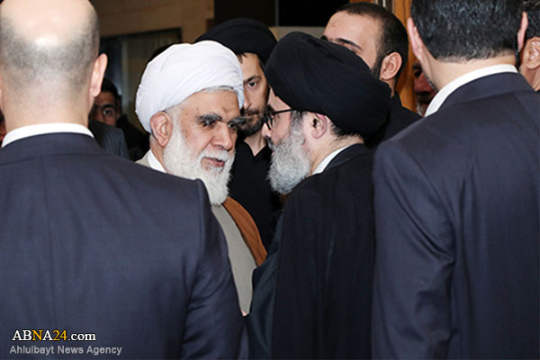 Ayatollah Akhtari travels to Lebanon to offer condolences for decease of Allameh Sayyed Jafar Mortadha Ameli