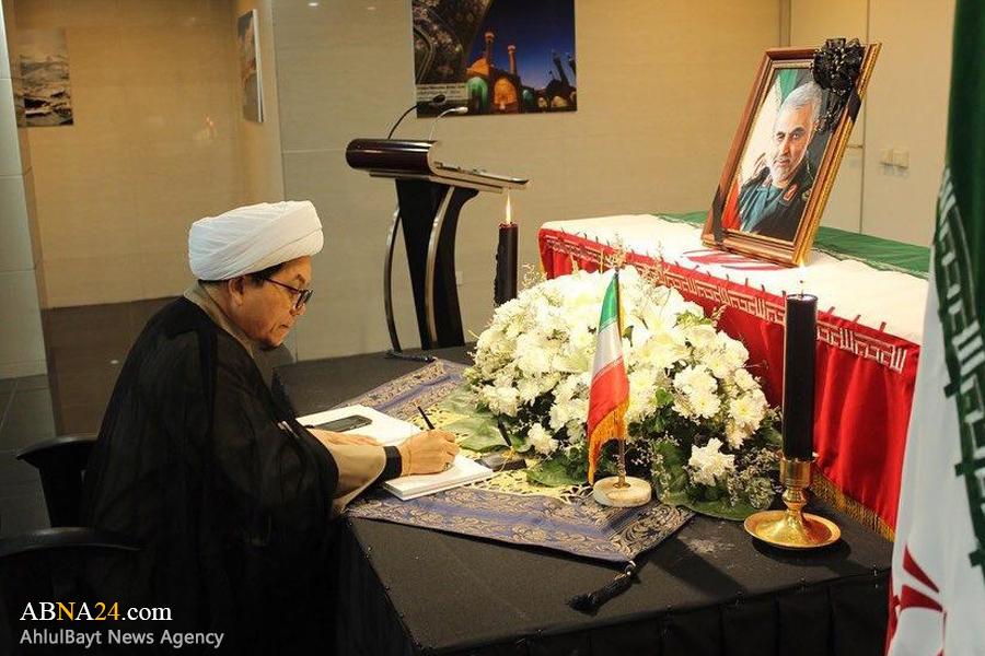 ادای احترام اعضای تایلندی مجمع جهانی اهل بیت(ع) به مقام شامخ سردار سلیمانی + عکس