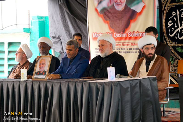 گزارش تصویری/ مراسم شهادت حضرت زهراء(س) و بزرگداشت شهیدان سلیمانی و المهندس در