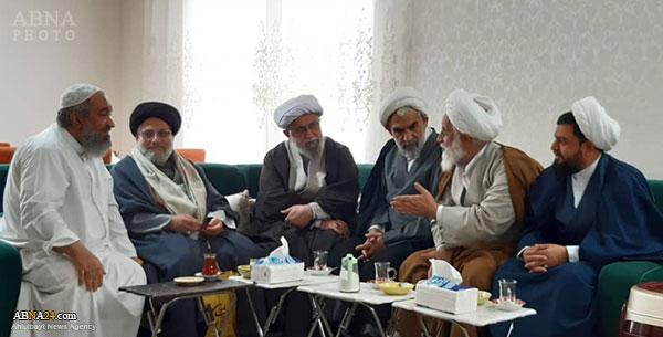 Ayatollah Ramazani visits Hojat al-Islam Hussain al-Matuq