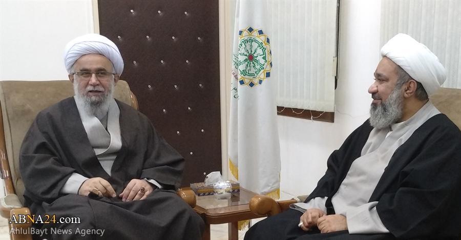 دیدار عضو کویتی شورای عالی مجمع جهانی اهل بیت(ع) با آیت الله رمضانی + عکس