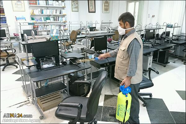 عکس خبری/ ضد عفونی ساختمان مجمع جهانی اهل بیت(ع)