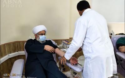 Присутствие Aятоллы Рамезани в движении «донорство крови» /Кровь донора спасает жизнь людей