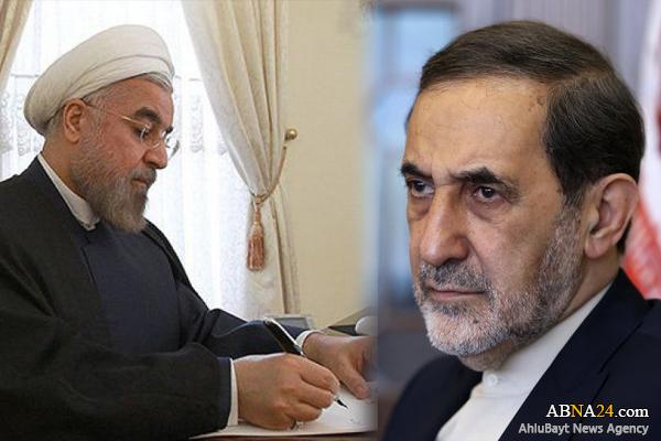 الرئيس روحاني يعزي ولايتي برحيل شقيقته