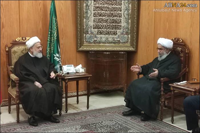 تقرير مصور/ لقاء أمين عام المجمع العالمي لأهل البيت (ع) بنائب رئيس المجلس الأعلى الشيعي اللبناني