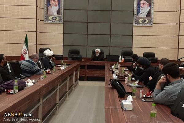 إقامة ورشة تعليمية لأصحاب المواكب غير الإيرانيين في الأربعين بقم المقدسة + صور