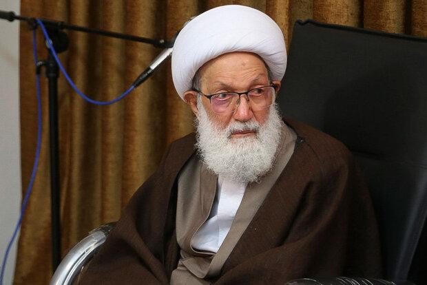 تعزية آية الله قاسم برحيل آية الله العظمى السيد محمد سعيد الحكيم