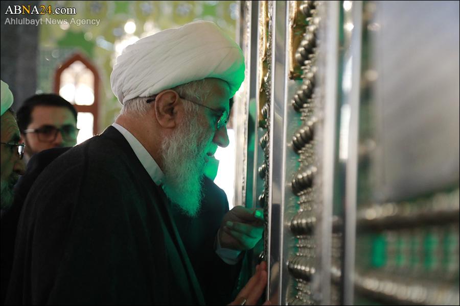Photo: Pilgrimage to shrine of Sayedeh Khuleh, tomb of martyr Sayed Abbas Mousavi by Ayatollah Ramazani