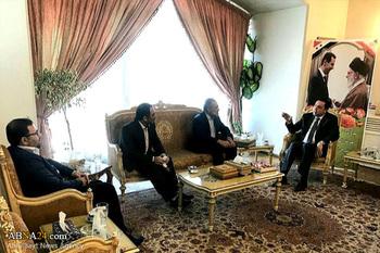 لقاء سفير الجمهورية العربية السورية في طهران بمدير قناة الثقلين الفضائية